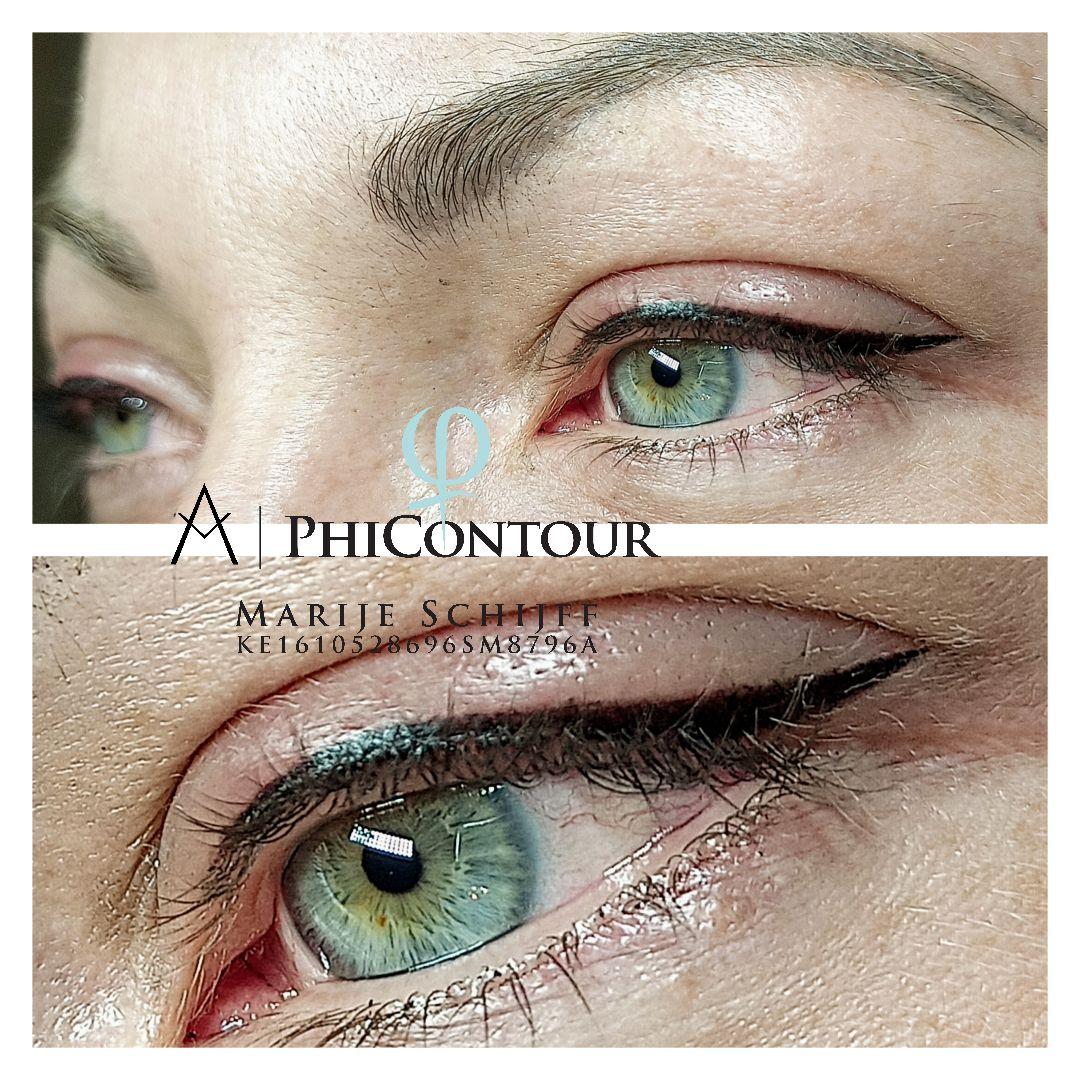 Eyeliner wing permanente make-up