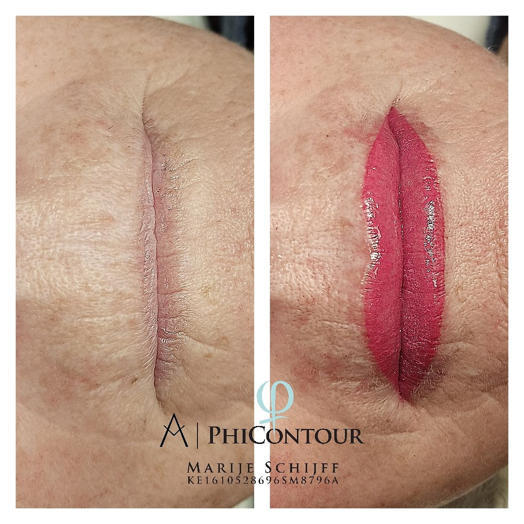 Full lips permanente make up julianadorp