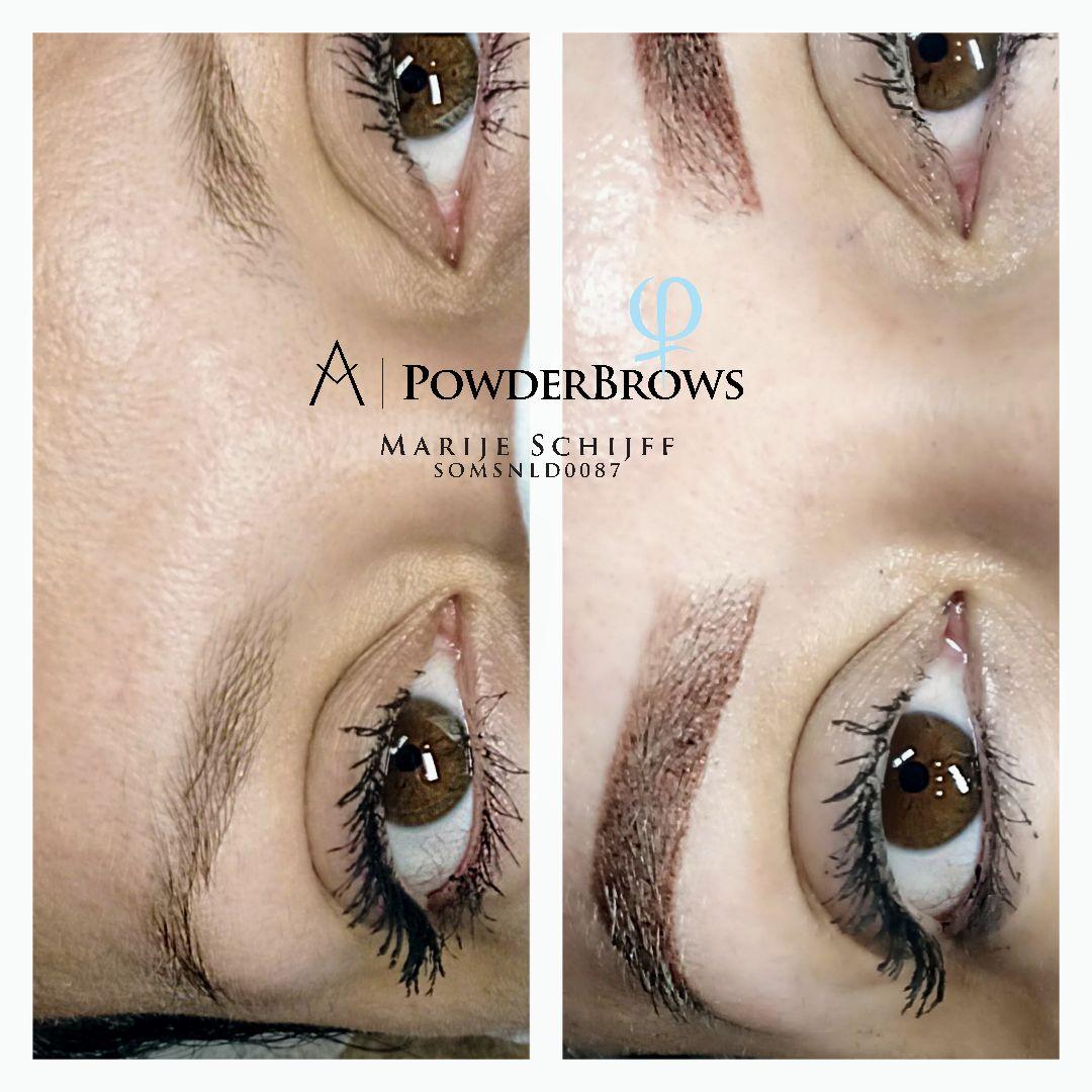 Ombre powderbrows pmu